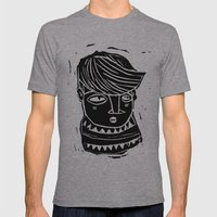 timide Mens Fitted Tee Athletic Grey SMALL