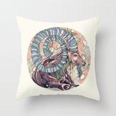 Nubian Ibex Throw Pillow