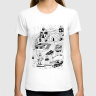 EL TANQUE CARCEDO Womens Fitted Tee White MEDIUM