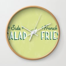 Side Salad or French Fries Wall Clock