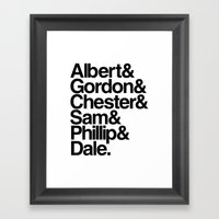 FBI Agents (Twin Peaks: … Framed Art Print