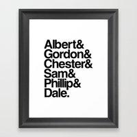 FBI Agents (Twin Peaks: … Framed Art Print