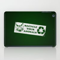Recycle your animals - Fight club iPad Case
