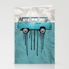 VW Kombi 2 Tone Paint Jo… Stationery Cards