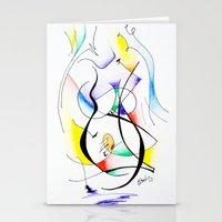 Cuerpo de mujer (estudio) Stationery Cards
