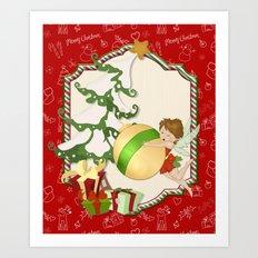 Fairy Merry Christmas Art Print