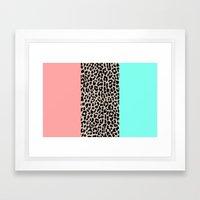 Leopard National Flag VI… Framed Art Print