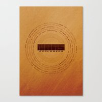MARS Explorers  - MINIMALIST POSTER Canvas Print