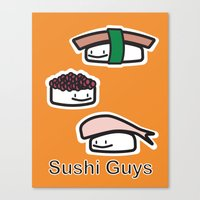 Sushi Guys Canvas Print