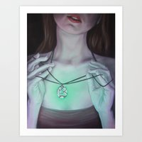 Glowing Necklace Art Print