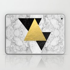 Marble Tri Black & Gold … Laptop & iPad Skin