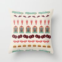 Meet me at the Diner Throw Pillow