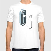 The Exploded Alphabet / G Mens Fitted Tee White SMALL