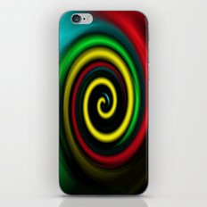 Swirling colours. iPhone & iPod Skin