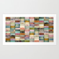 Patchwork Textures Art Print