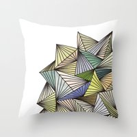 Green Spikes Throw Pillow