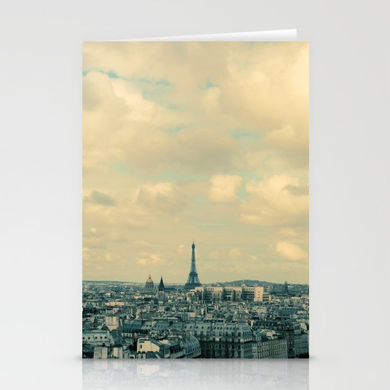Paris In Blue Stationery Card