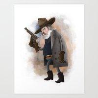 Rooster Cogburn Art Print
