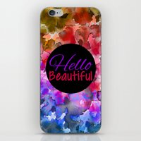 HELLO BEAUTIFUL Colorful… iPhone & iPod Skin