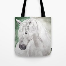Cathy's white horse Tote Bag