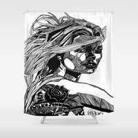B&W Fashion Illustration - Wilko Johnson Shower Curtain