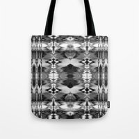 B&W Watercolor Ikat Tote Bag