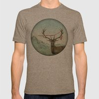 hold deer, tsunami Mens Fitted Tee Tri-Coffee SMALL