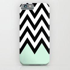 Mint Piece Chevron iPhone 6 Slim Case