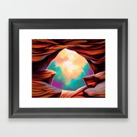 The Canyon Framed Art Print