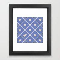 Always Near (from the Valentine set) (colors: deep dusk) Framed Art Print