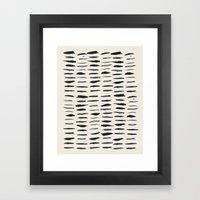 Three / Cream Framed Art Print