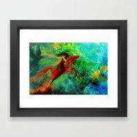 Wind-Flügel Framed Art Print