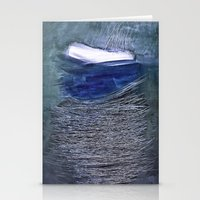 Abstract Scratches Stationery Cards