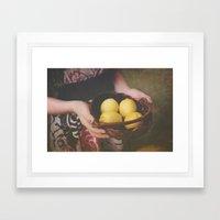 Make Lemonade Framed Art Print