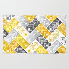 Bright Geometric Print Rug
