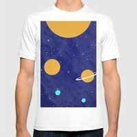 Solar System Mens Fitted Tee White SMALL