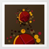 Circular Brown Abstract … Art Print