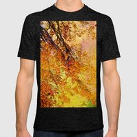 Autumn In Paradise Mens Fitted Tee Tri-Black SMALL