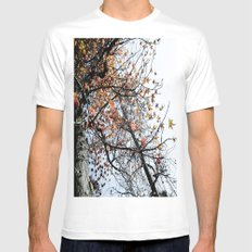 Fall II White Mens Fitted Tee SMALL