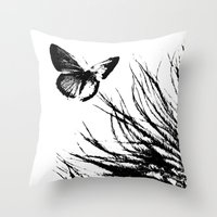 Feathers and Flutters Throw Pillow