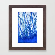 Blue Holiday Framed Art Print
