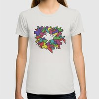 Rainbow Womens Fitted Tee Silver SMALL