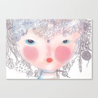 forest in my hair Canvas Print