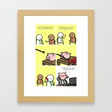 Antics #029 - financial wizardry Framed Art Print