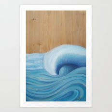 Wooden Wave Scape Art Print