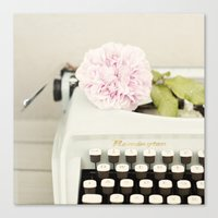 Remington and rose Canvas Print