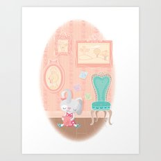 post-it artist Art Print
