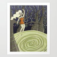 In the Forest of the Blood Nymphs Art Print