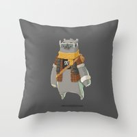 Timebear Throw Pillow