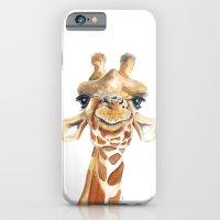 giraffe iPhone & iPod Cases featuring Giraffe  by Tussock Studio